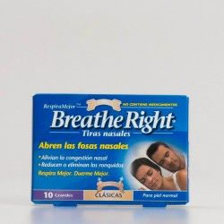 Breathe Right Tiras nasales grandes, 10 uds
