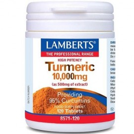 LAMBERTS Cúrcuma 10.000 mg, 120 comprimidos.