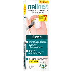 Nailner Pincel Antihongos 2 en 1, 5ml.