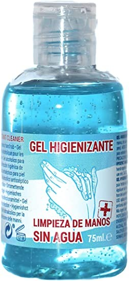 Gel Higienizante Hidroalcoholico, 75 ml.