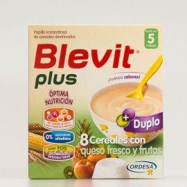 Blevit plus Duplo 8 Cereales con queso fresco y frutas DUPLO, 600g.