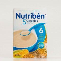 Nutribén 5 Cereales, 600g.