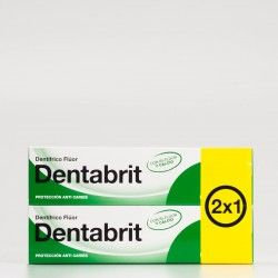 Dentabrit Pasta Dental Flúor 2x1, 2x125ml.