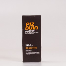 Piz Buin SPF50 Allergy Crema Facial, 50ml.