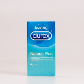 Durex Natural Plus, 6 Preservativos.