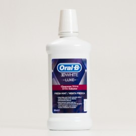 Oral-B 3D White Luxe Brillo Seductor Enjuague, 500ml.