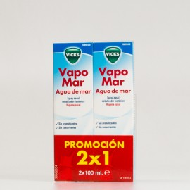 VapoMar Isotónico spray nasal agua de mar, 2x100ml