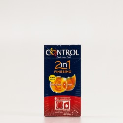 Control 2in1 Finissimo 6 Preservativos + Gel