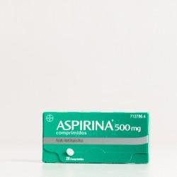 Aspirina 500 mg, 20 comprimidos.