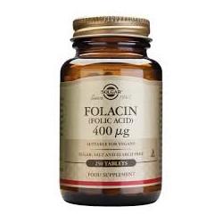 Solgar Folacin (acido folico), 250 comprimidos.